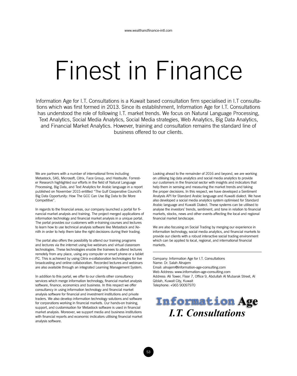Wealth Finance June 2016 By AI Global Media