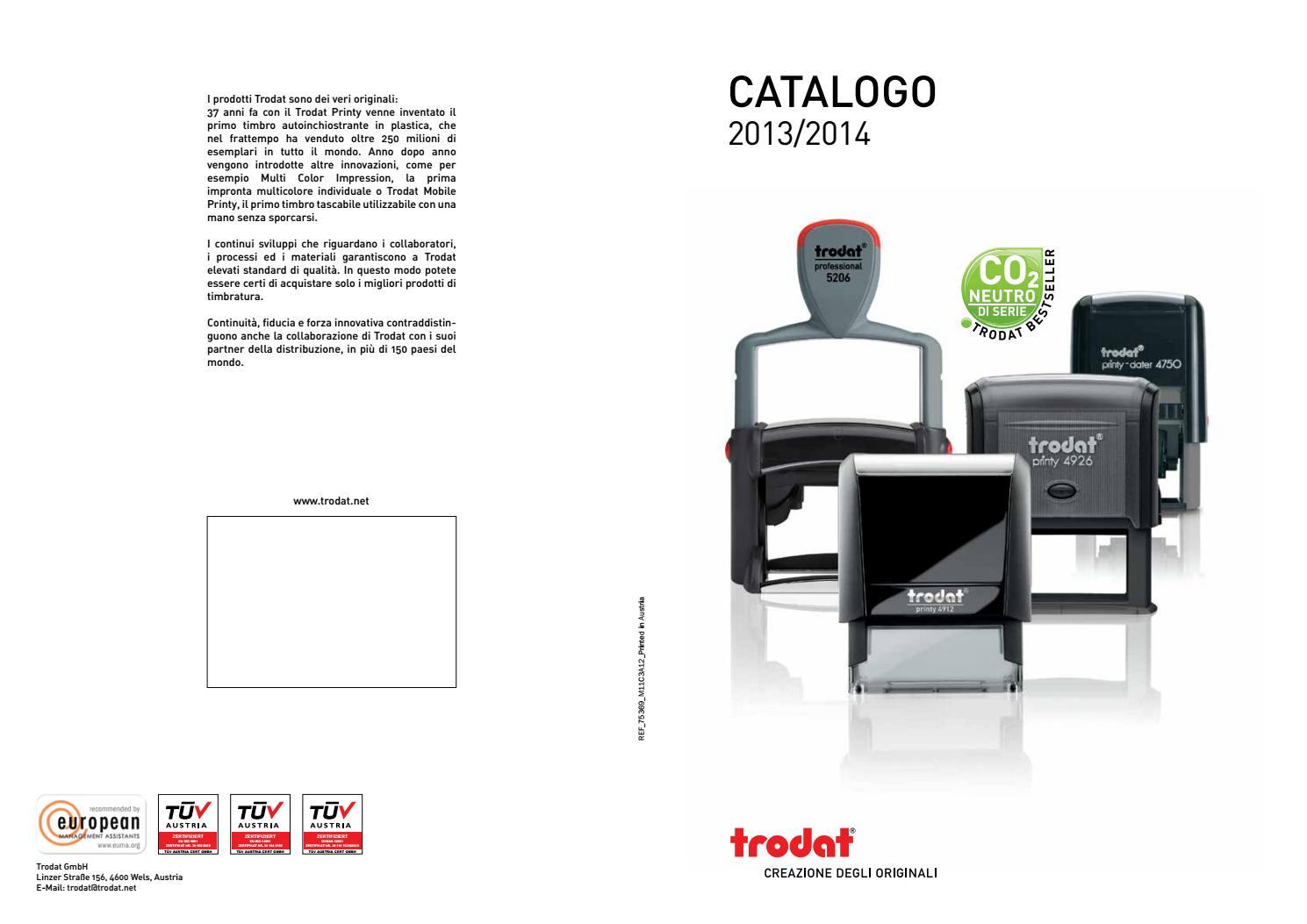 Timbro con data a 4 piastre 56 x 33 mm Trodat 5460 Professional