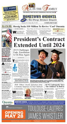 Hometown Oneonta 05 27 16 By All Otsego News Of Oneonta