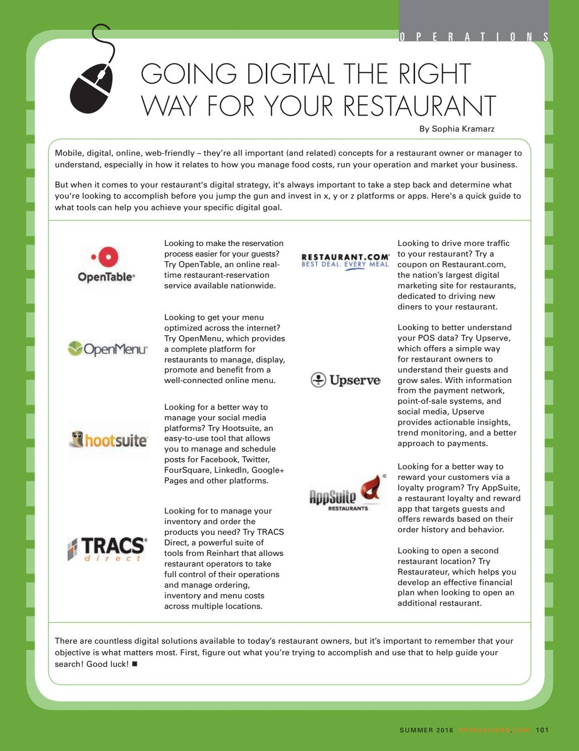 Restaurant Inc  | Summer 2016 by Reinhart_Publications - issuu