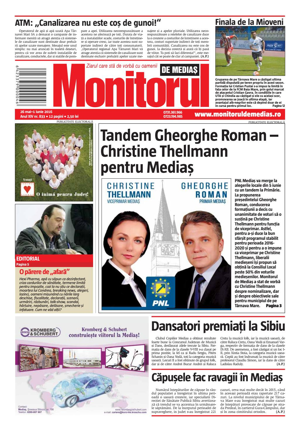 Monitorul De Medias 833 26 05 2016 By Monitorul De Mediaş Issuu