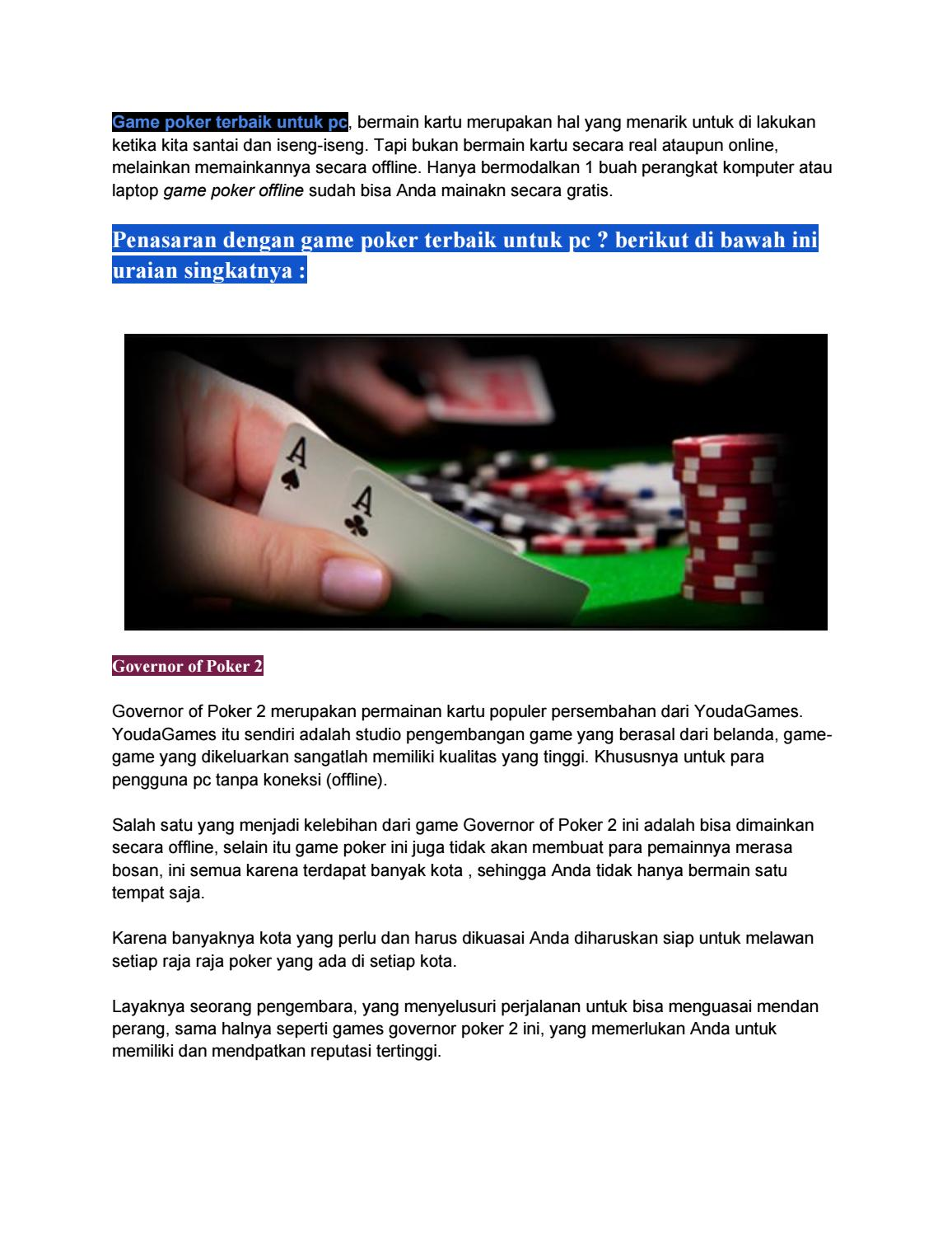 Game Poker Terbaik Untuk Pc By Suwarnoe Issuu