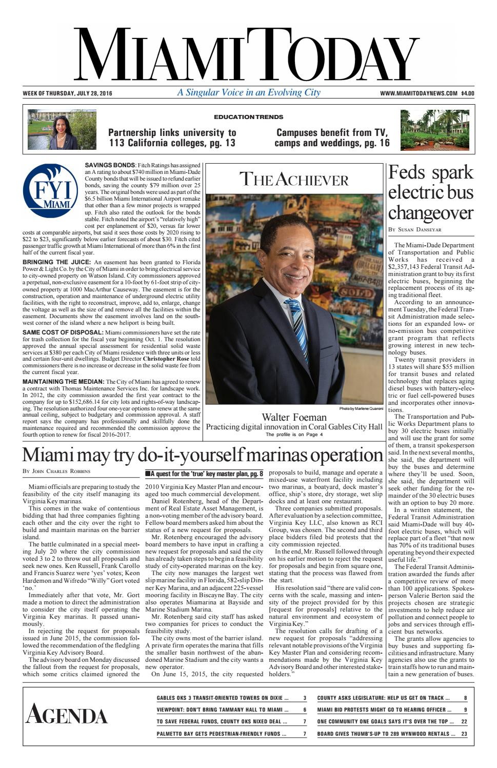 Miami Today: Week of Thursday, July 28, 2016 by Miami Today