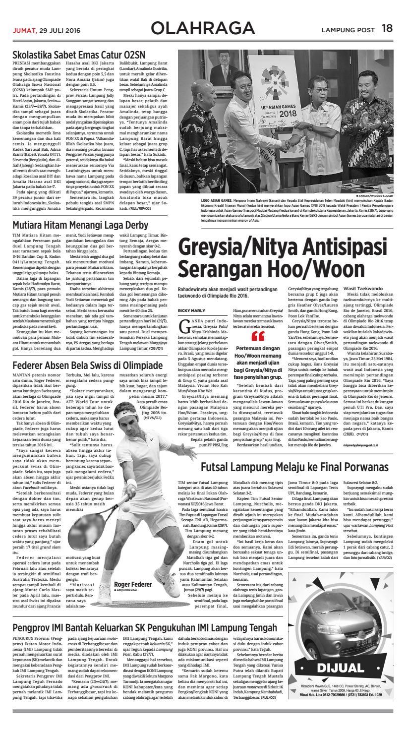 Lampung Post Jumat 29 Juli 2016 By Lampung Post Issuu
