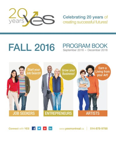 YES Fall 2016 Program Book by Youth Employment Services (YES