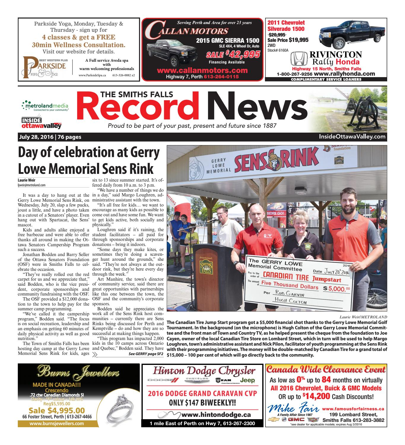 Smithsfalls072816 by Metroland East - Smiths Falls Record News - issuu