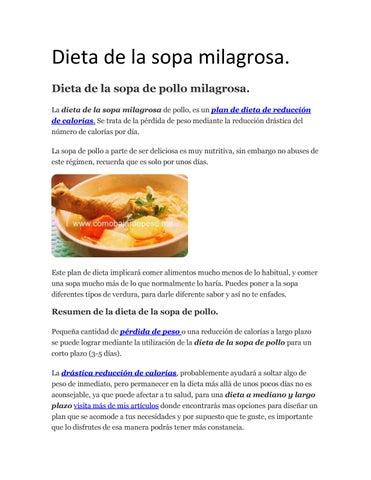Dieta De La Sopa Milagrosa By Jorge Issuu