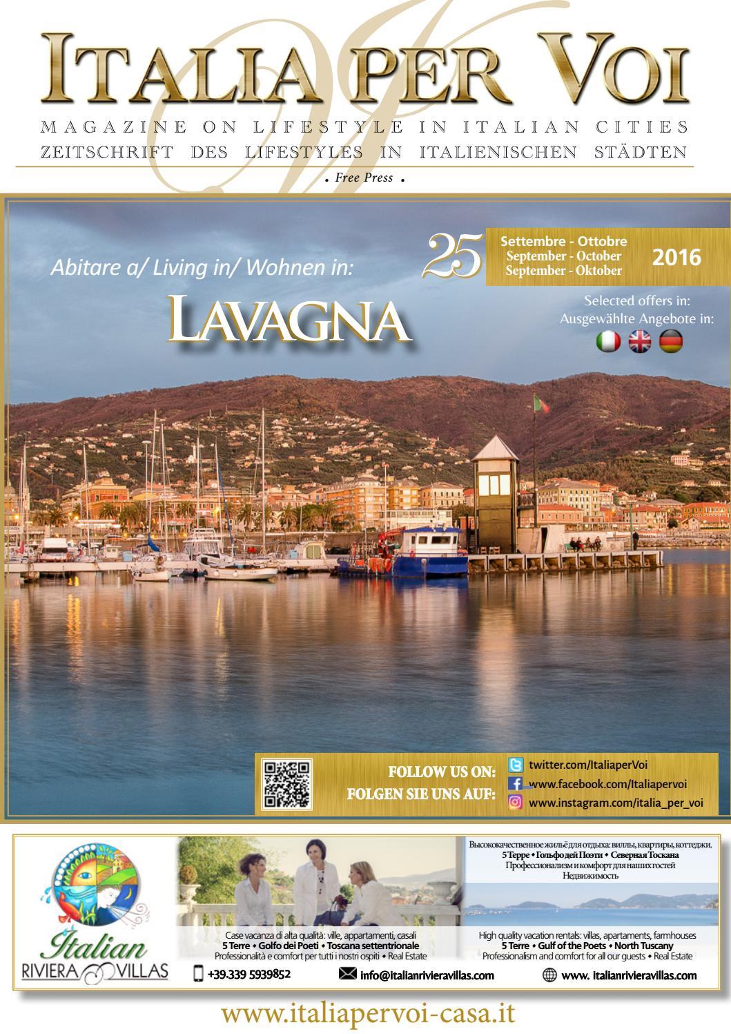 0d00e926f7 Italia per Voi n. 25 - Bimestre Settembre-Ottobre 2016 - Lavagna by Italia  Per Voi - issuu