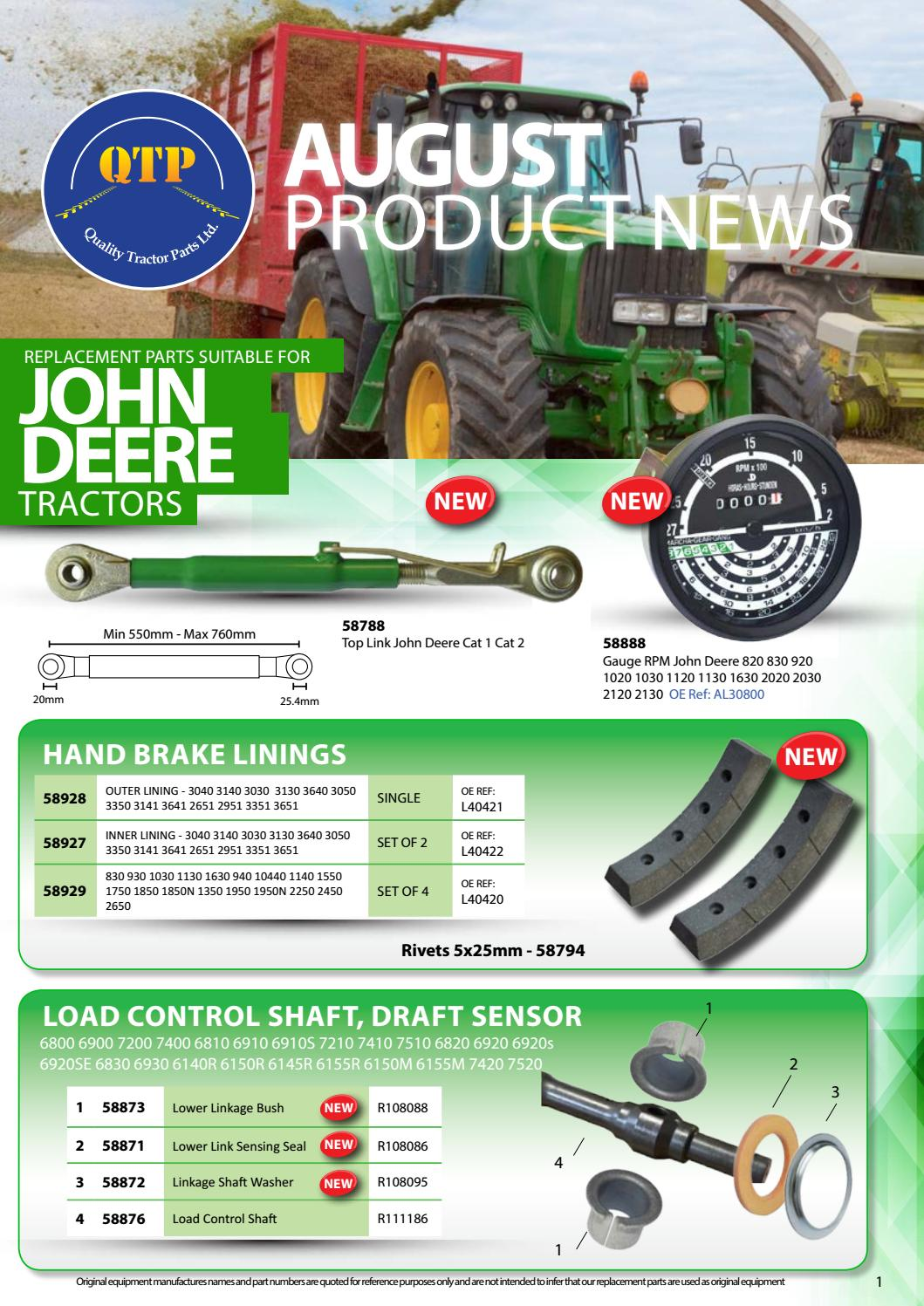 6020 Anlasser John Deere 6010 6230 Serie