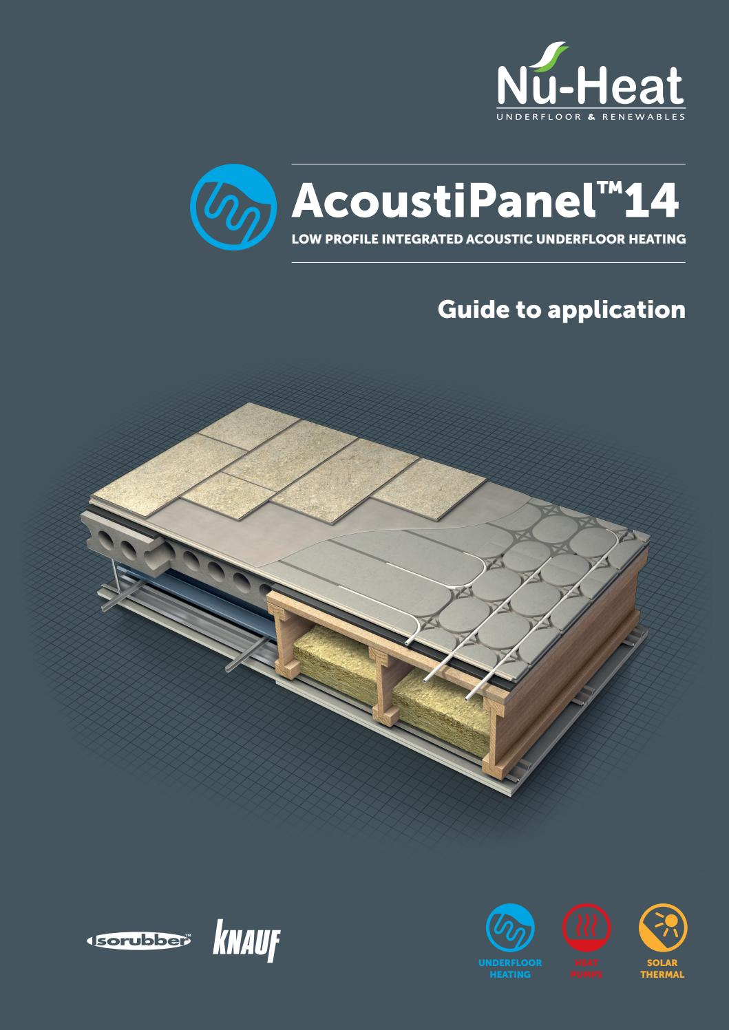 Acoustipanel 14 Guide To Application By Nu Heat Uk Ltd