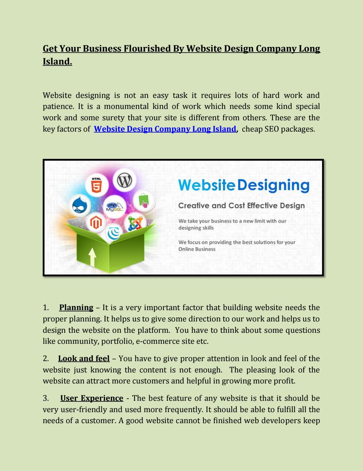 Website Design Company In Long Island By Long Islands Seo Issuu