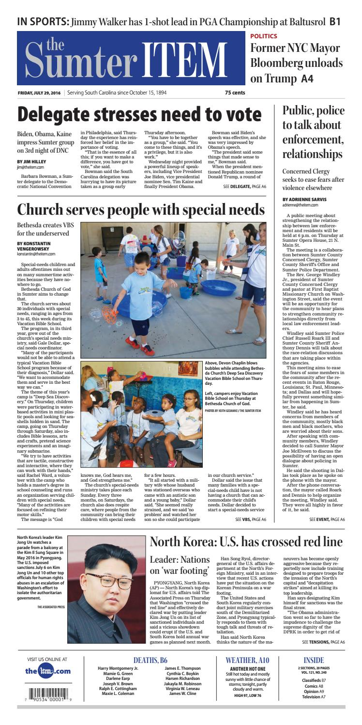 july 29 2016 by the sumter item issuu