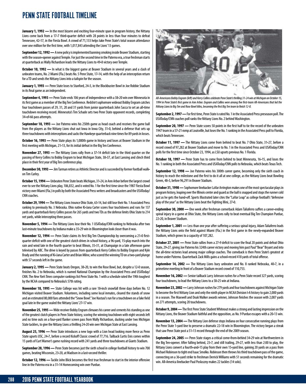 2016 Penn State Football Yearbook By Penn State Athletics Issuu