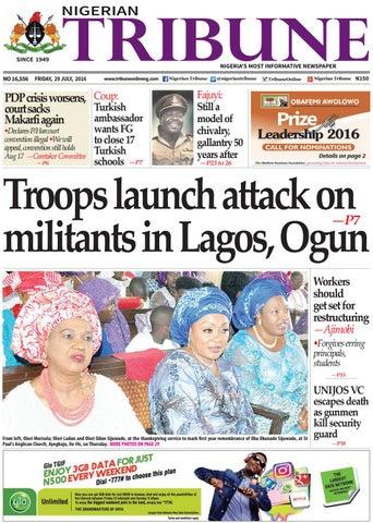 29th July 2016 By Nigerian Tribune Issuu
