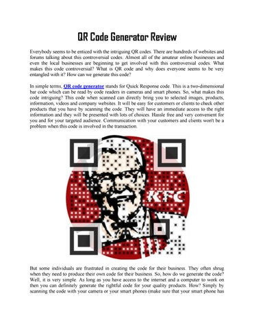 Qr code generator review by axscdvfbg - issuu