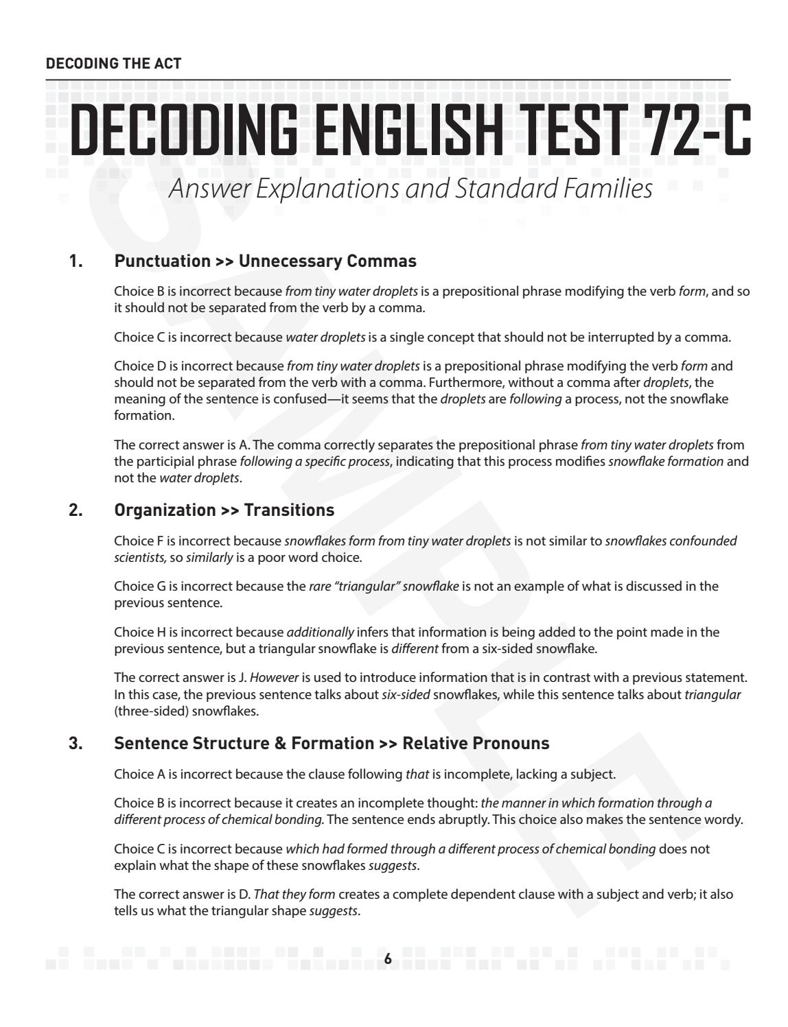 Sample decoding the act english section by masteryprep issuu falaconquin