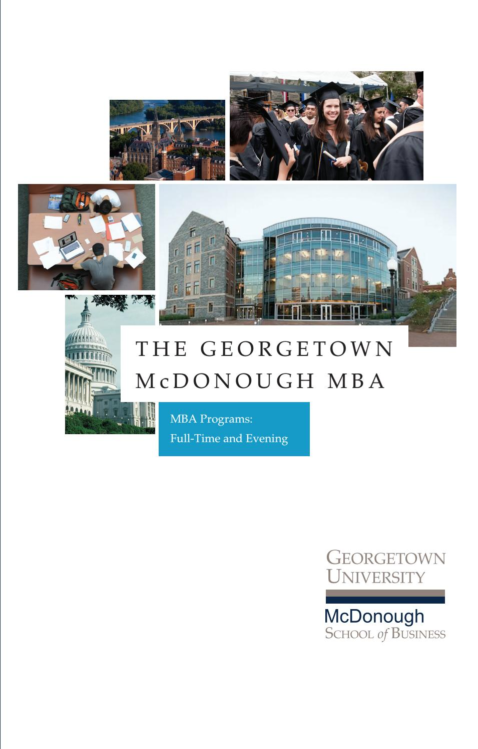 georgetown mba essays