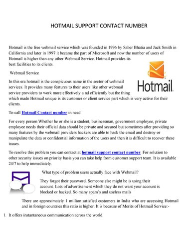 hotmail help contact