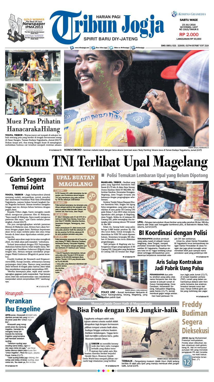 Tribunjogja 23 07 2016 By Tribun Jogja Issuu Produk Ukm Bumn Baju Muslim Anak Laki Dannis Nomor 10 Abu