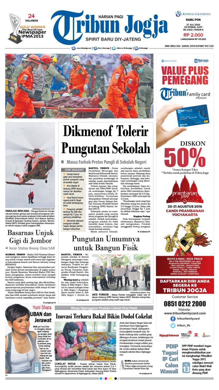 Tribunjogja 27 07 2016 By Tribun Jogja Issuu Produk Ukm Bumn Pusaka Coffee 15 Pcs Kopi Herbal Nusantara Free Ongkir Depok Ampamp Jakarta