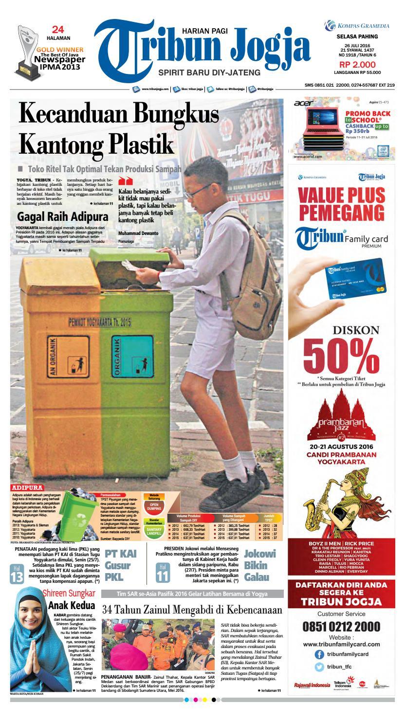 Tribunjogja 26 07 2016 By Tribun Jogja Issuu Produk Umkm Bumn Kapal Batok Lebak