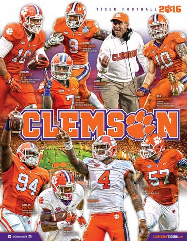 2016 clemson football media guide by clemson tigers issuu page 1 sciox Images