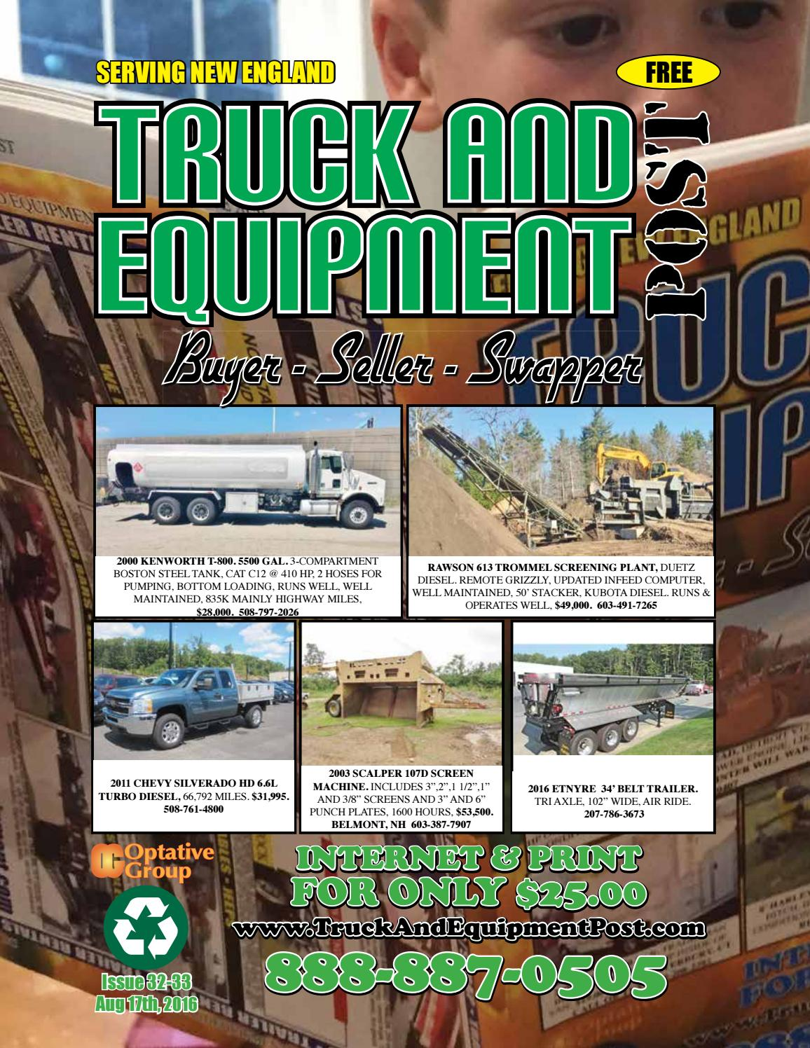 Truck equipment post 32 33 2016