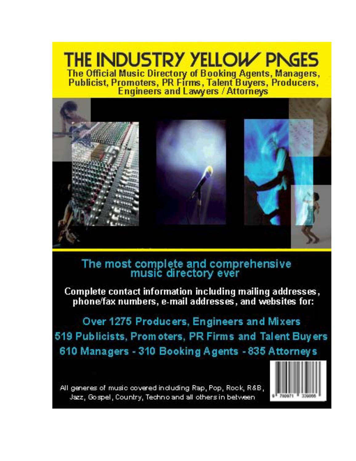 directory4 booking agents, managers by stopbeefinradio - issuu