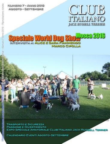 Expocani Calendario.Club Italiano Jack Russell Terrier N 7 2016 By Club