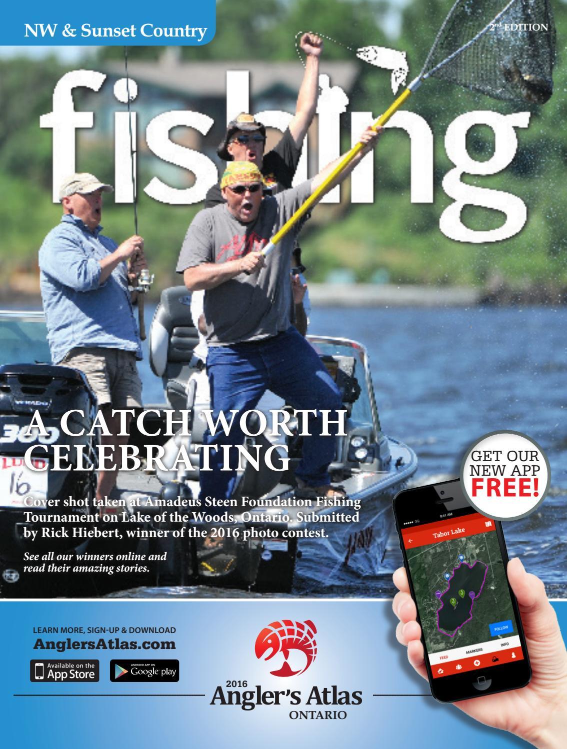 Angler's Atlas Northwest Ontario Fishing Guide by Glacier Specialty