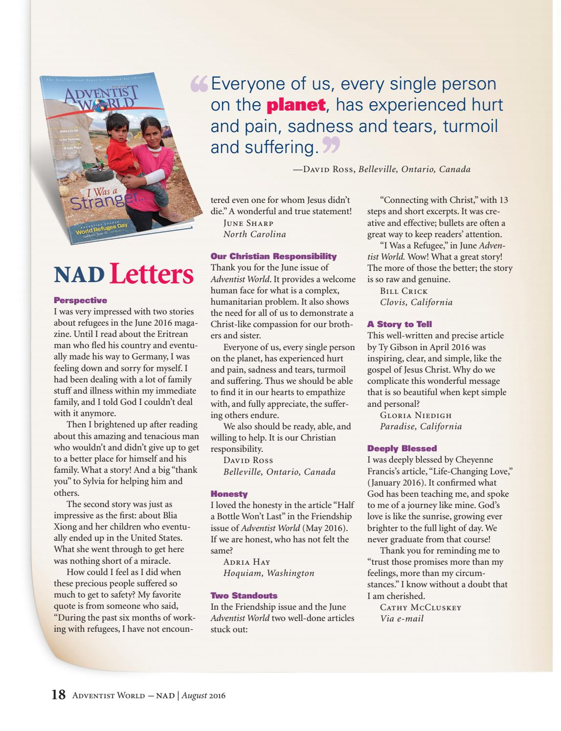 AW NAD English - July 2016 by Adventist World Magazine - issuu