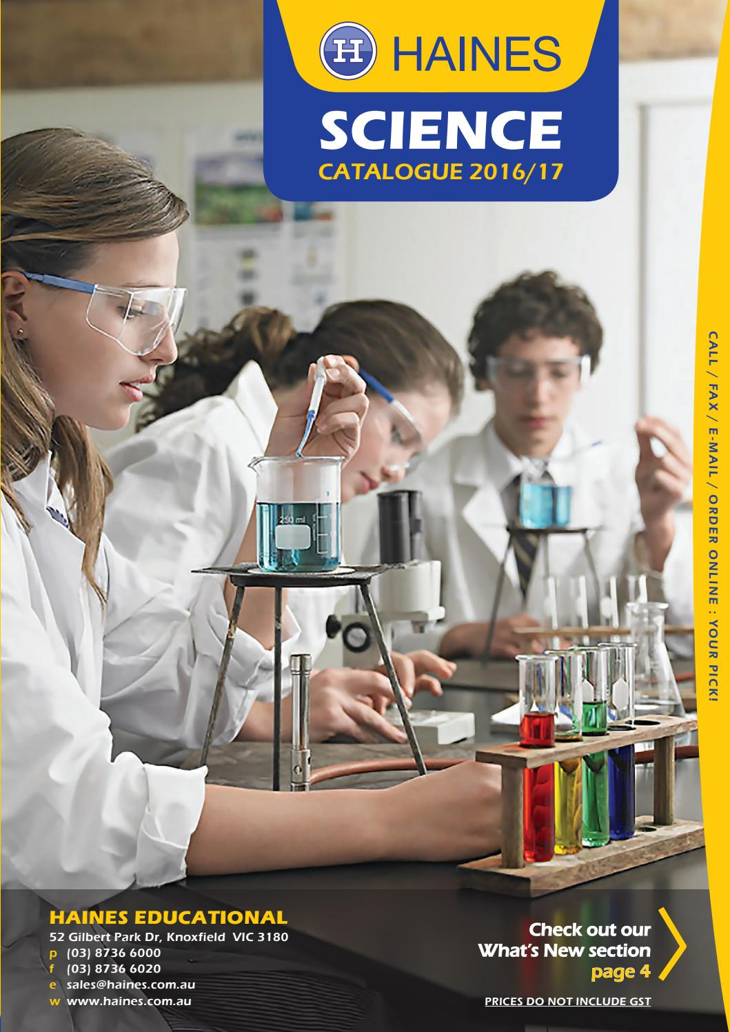 haines educational science catalogue 2016 17 by haines educational