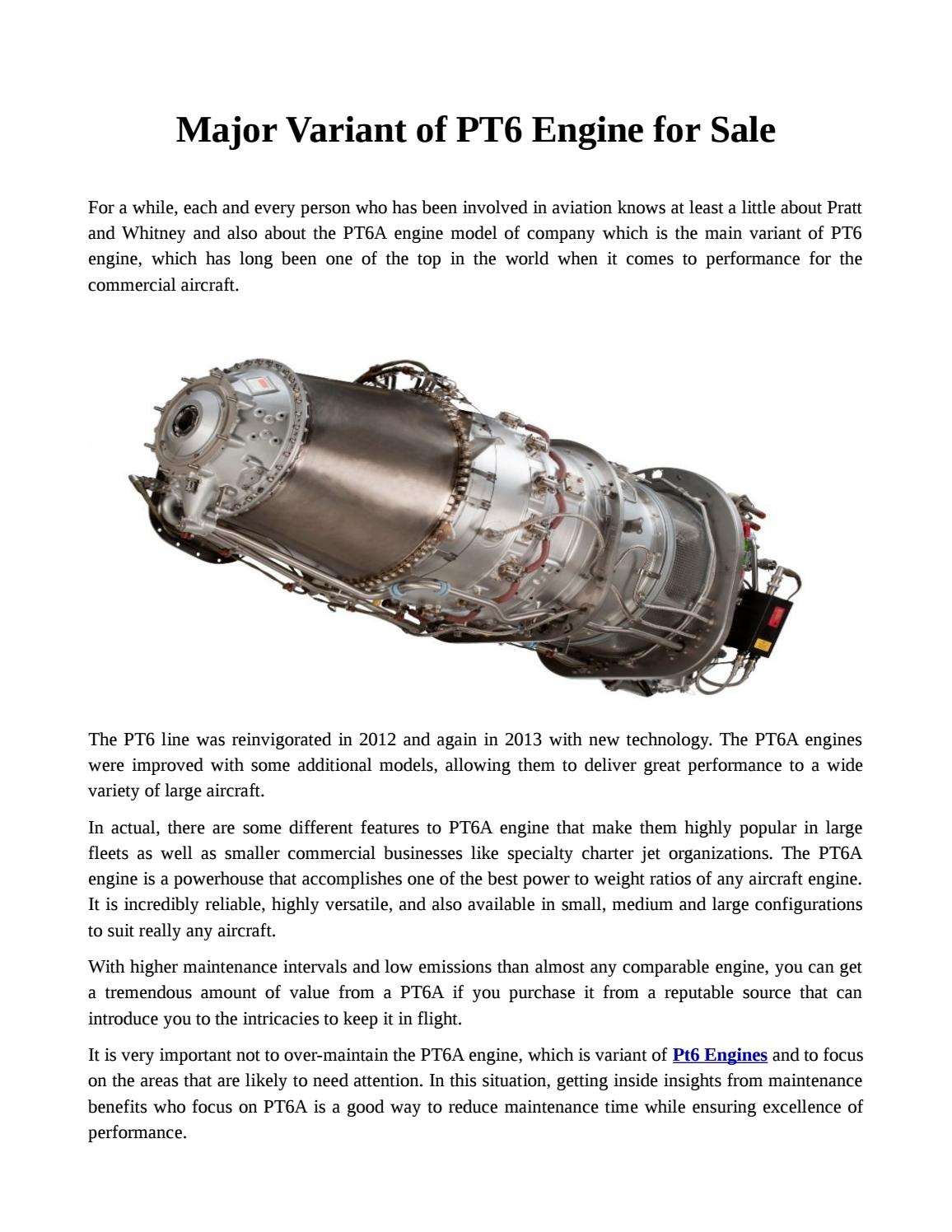 Pt6 engine For Sale With Great Offers by marvin92sage - issuu