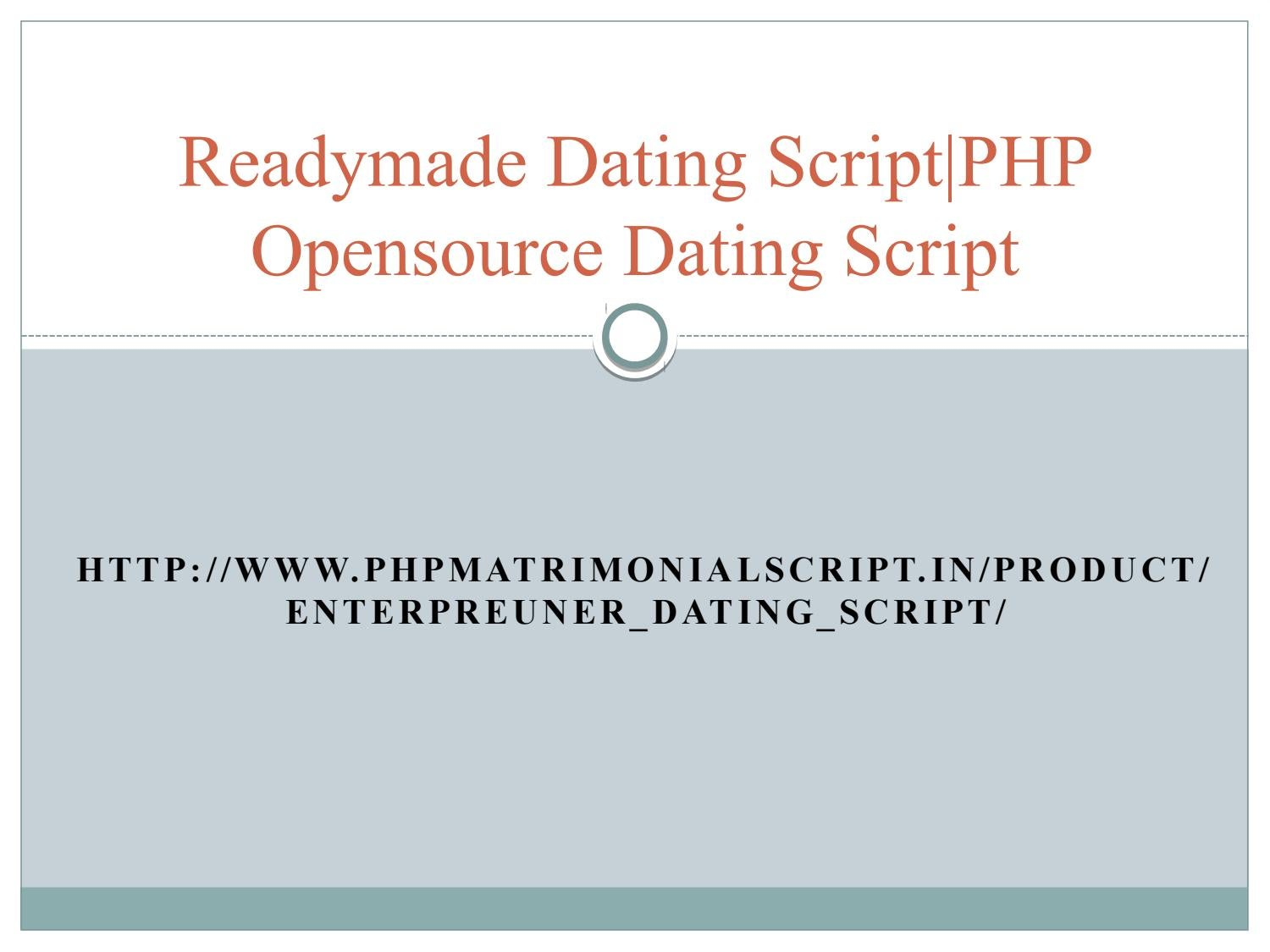Readymade dating site