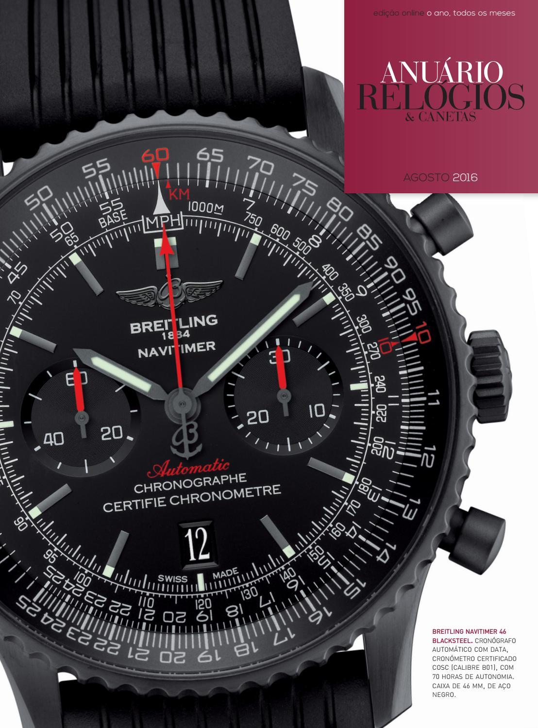 3aaa568fa67 Anuário Relógios   Canetas - Agosto 2016 by Anuário Relógios   Canetas -  issuu