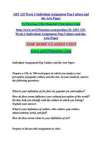 art 125 week 1 individual