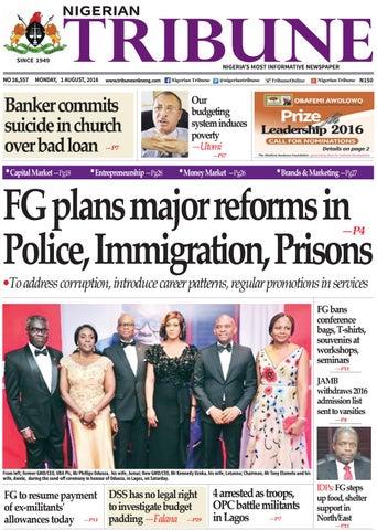 1st August 2016 by Nigerian Tribune - issuu