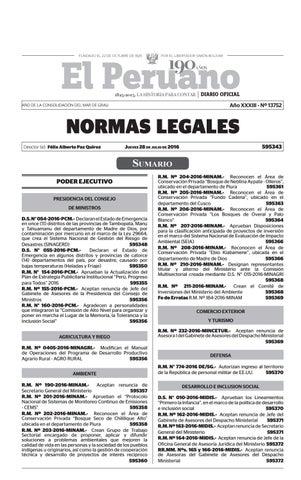 Normas Legales 28 07 2016 By Gaceta Juridica Issuu
