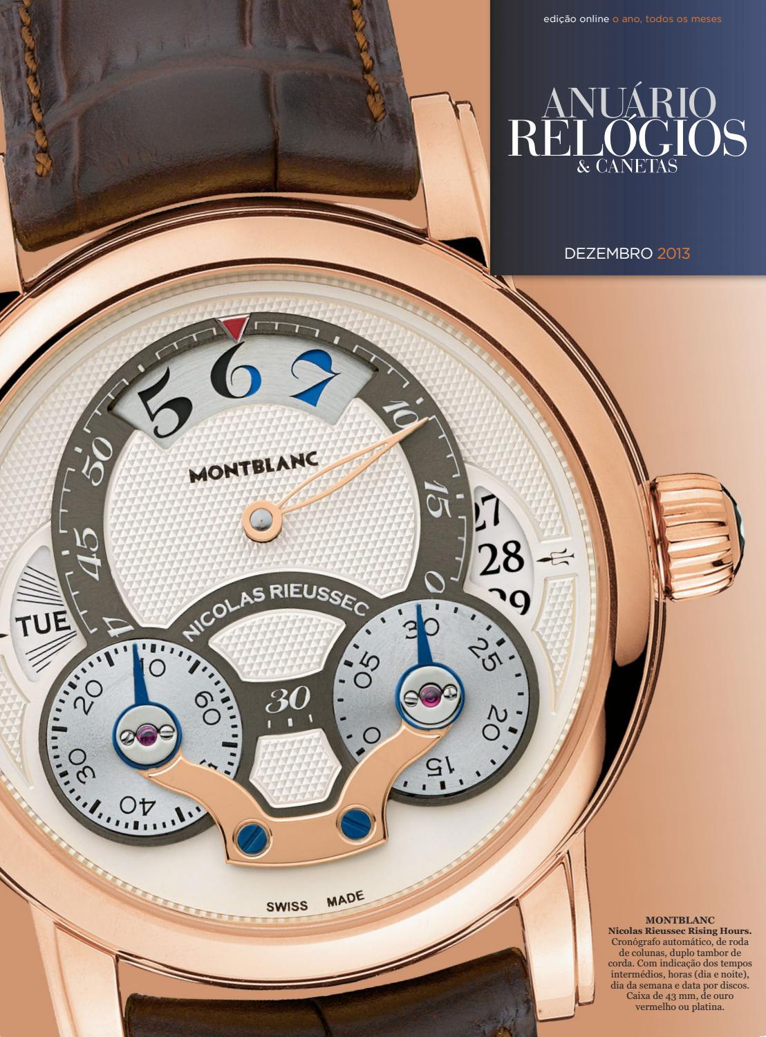 6af16a3d22e Anuário Relógios   Canetas - Dezembro 2013 by Anuário Relógios   Canetas -  issuu