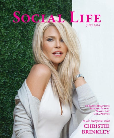 263fcc0678fe1c Social Life - July 2016 - Christie Brinkley by Social Life Magazine ...