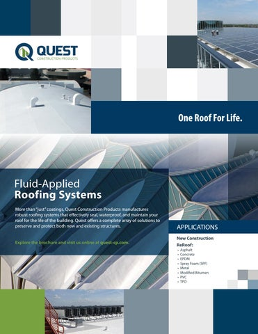 Qcp Fluid Applied Roofing Systems Brochure Uc By Ircsas Issuu