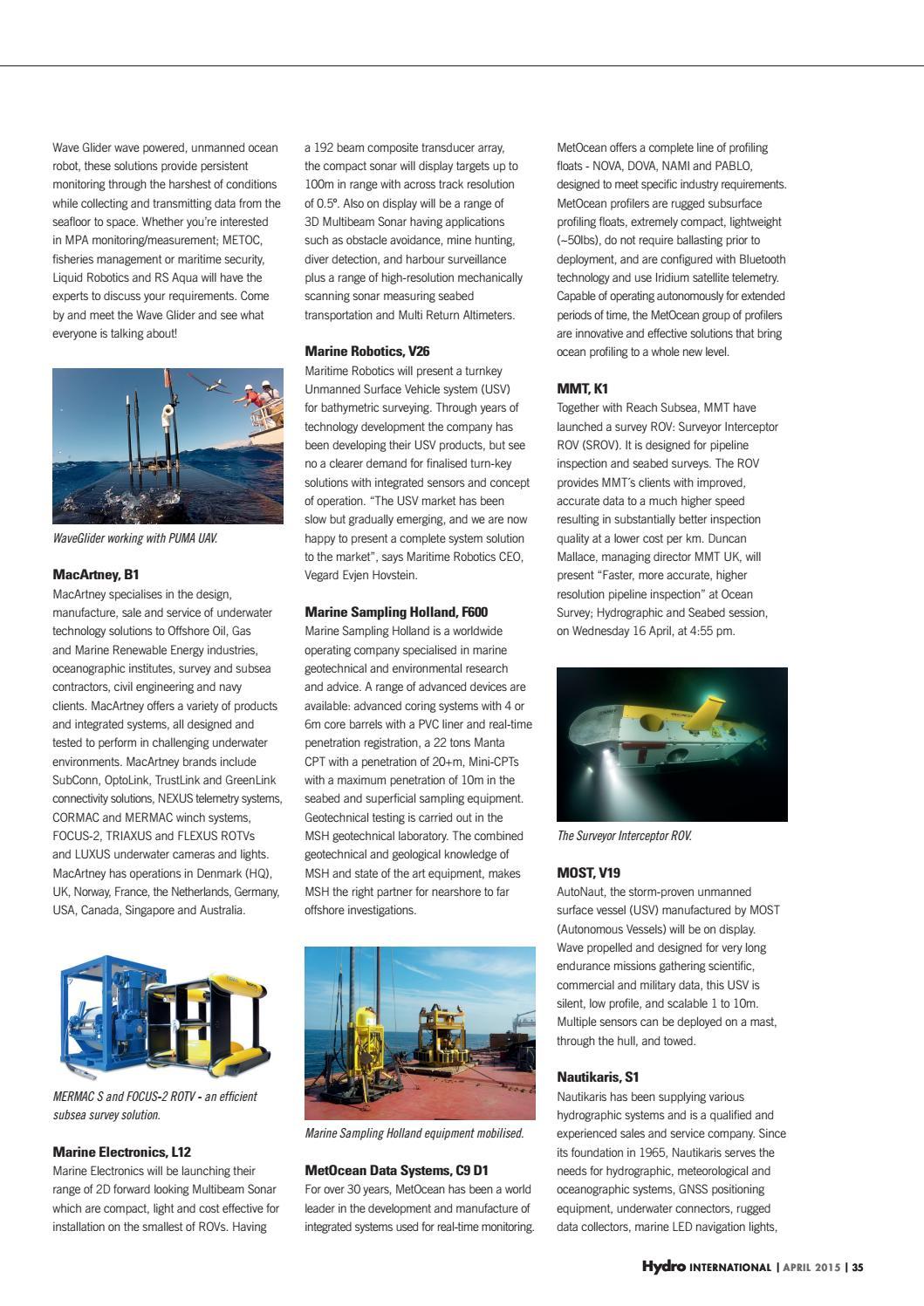 Hydro international april 2015 by Geomares Publishing - issuu