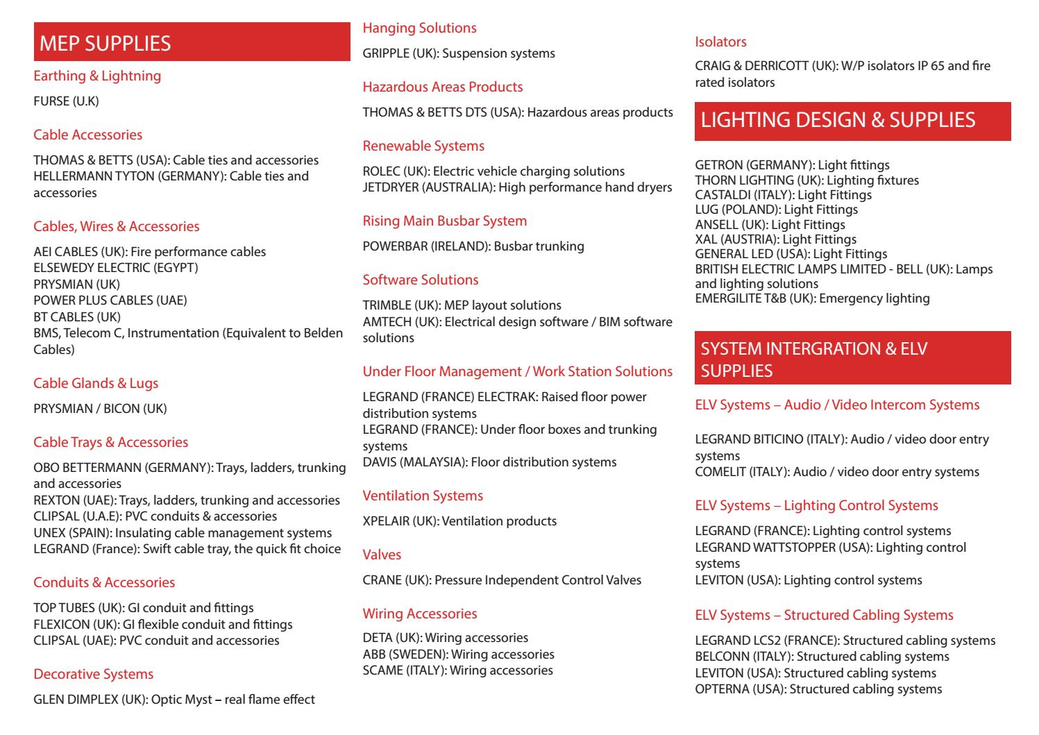 Sentor Electrical Product List By Issuu Legrand Wiring Accessories