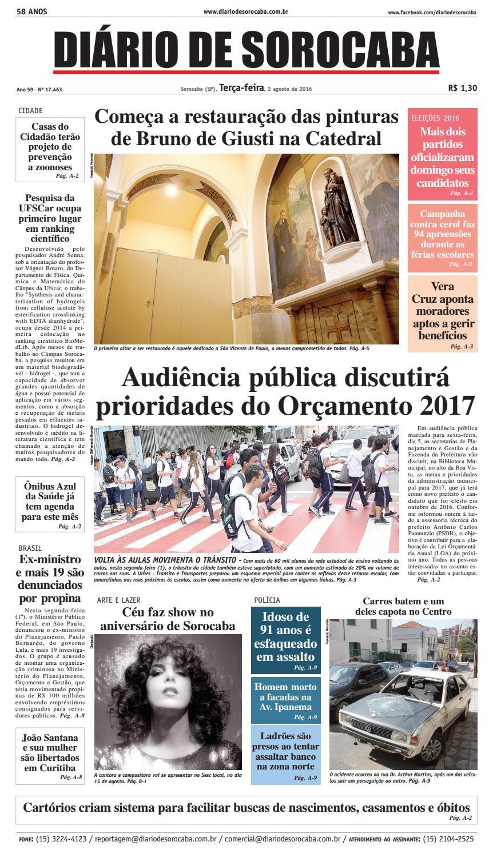 Edição de 02 de agosto de 2016 by DIÁRIO DE SOROCABA - issuu d85c89c553d