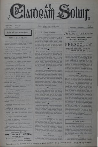An Claidheamh Soluis: Iúil - Nollaig 1909 by Conradh na Gaeilge - issuu
