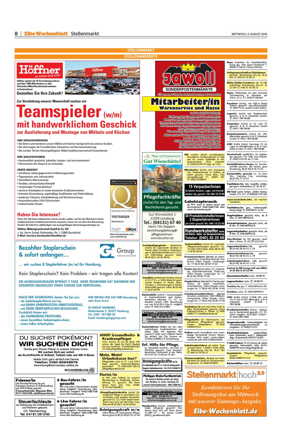 Harburg KW31-2016 by Elbe Wochenblatt Verlagsgesellschaft mbH & Co.KG -  issuu