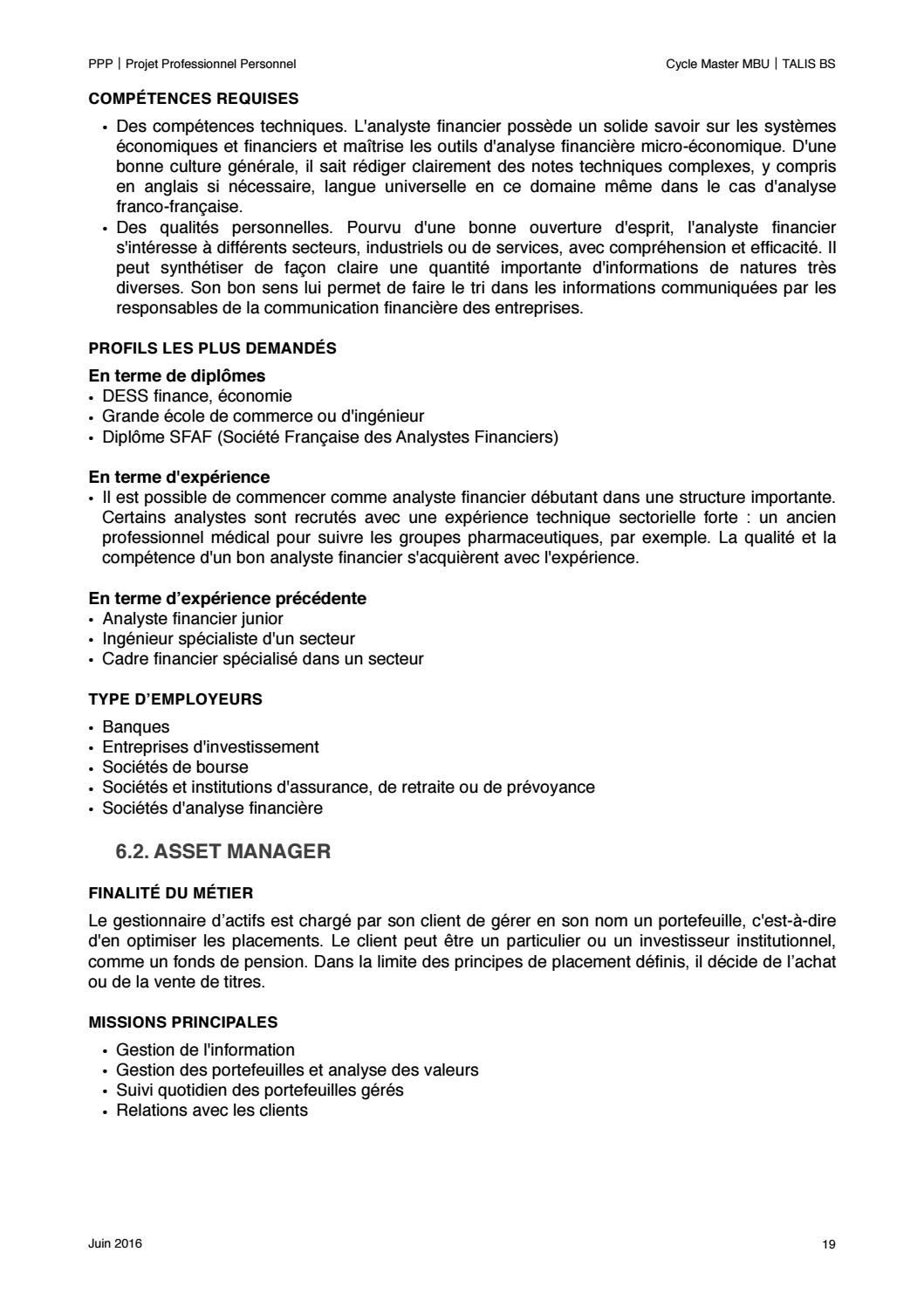 PPP / PROJET PROFESSIONNEL PERSONNALISÉ by ValentinLhoste - issuu