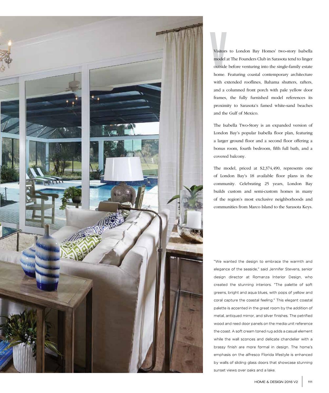 Home & Design Magazine 2016 Suncoast Florida Edition by Jennifer Evans - issuu
