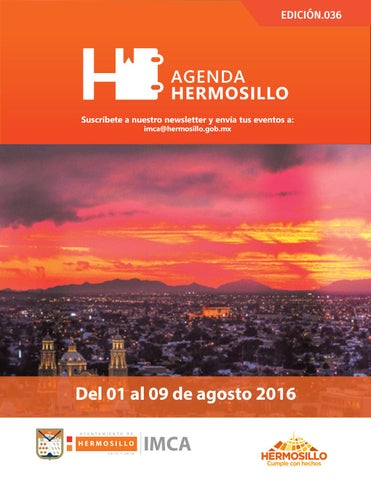 "Cover of ""Agenda hermosillo 1 agosto 2016"""