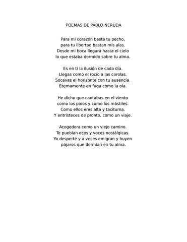 Poemas De Pablo Neruda By Anahi Arellano Issuu